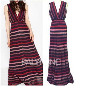❤️ZARA MAXI EXTRA LONG STRIPED DRESS KNIT DRESS